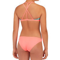 GIRL'S SURF SWIMSUIT TRIANGLE TOP BETTY 500 GREEN