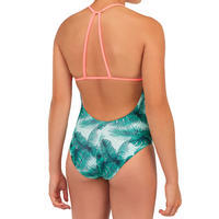GIRL'S SURF SWIMSUIT HIMAE 500 GREEN