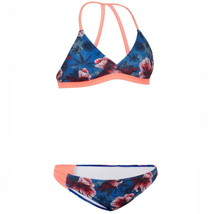 Bikinibroekje voor surfen meisjes Malou 500 blauw