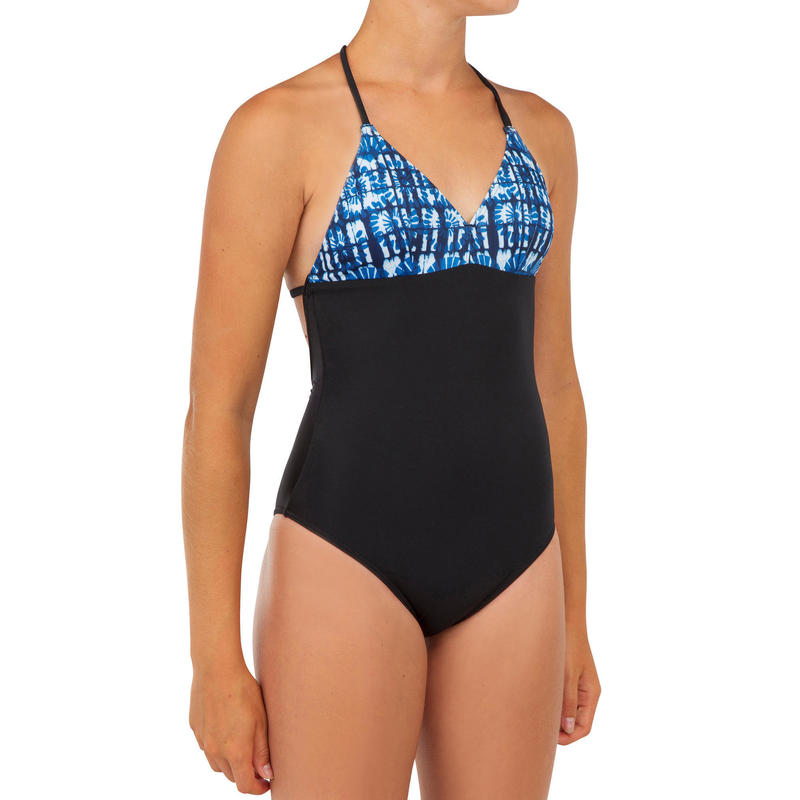 GIRL'S SURF SWIMSUIT HIMAE 500 BLUE