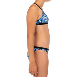 Bikinibroekje voor surfen meisjes Maeva 500 blauw