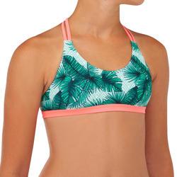 Bikinitop voor surfen meisjes Bondi 500 triangel groen