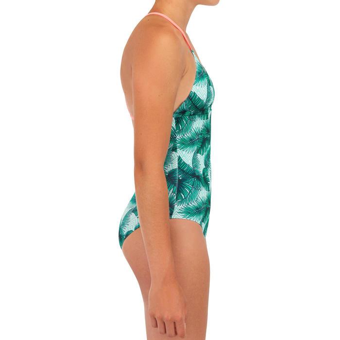maillot de bain 1 pièce SURF FILLE VERT HIMAE 500