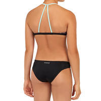 GIRL'S SURF SWIMSUIT TRIANGLE TOP BETTY 500 BLACK