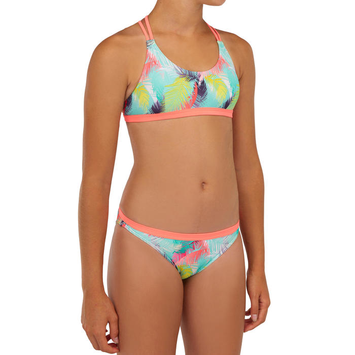 Bikini-Hose Surfen Maeva 500 Mädchen mintgrün