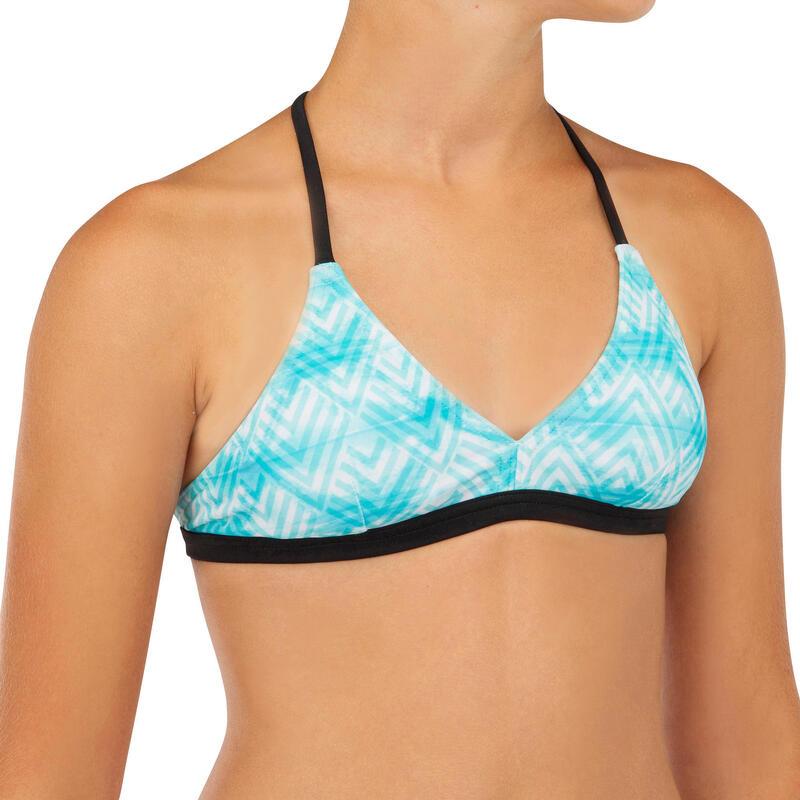 Bikinitop voor surfen meisjes Betty 500 triangel turquoise