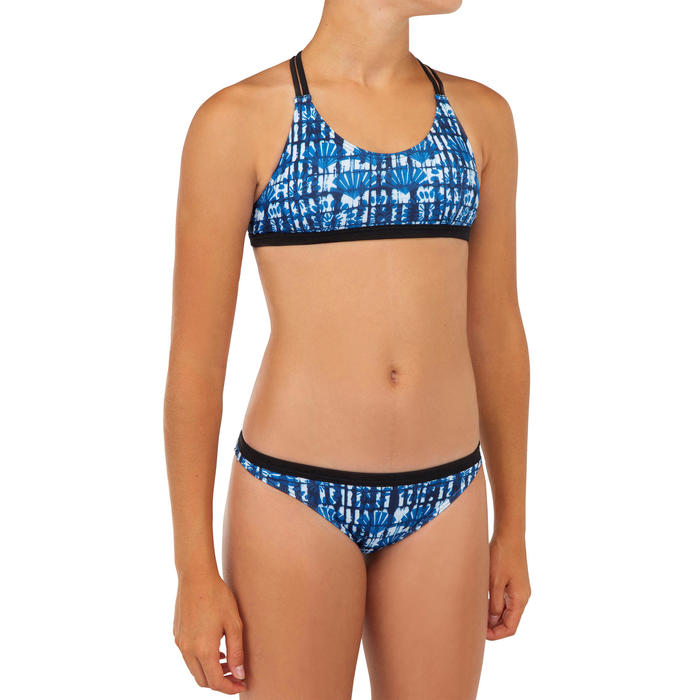 Bikini-Set Surfen Maeva 500 Mädchen blau