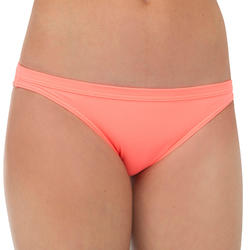 GIRL'S SURF SWIMSUIT BOTTOM MAEVA 500 CORAL