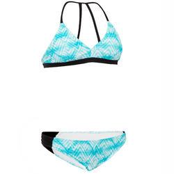 Bikinibroekje voor surfen meisjes Malou 500 turquoise