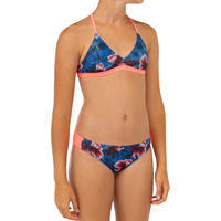 GIRL'S SURF SWIMSUIT TRIANGLE TOP BETTY 500 BLUE