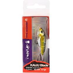 Kunstaas voor roofvissen Kaiju Blade 43 Black Alive