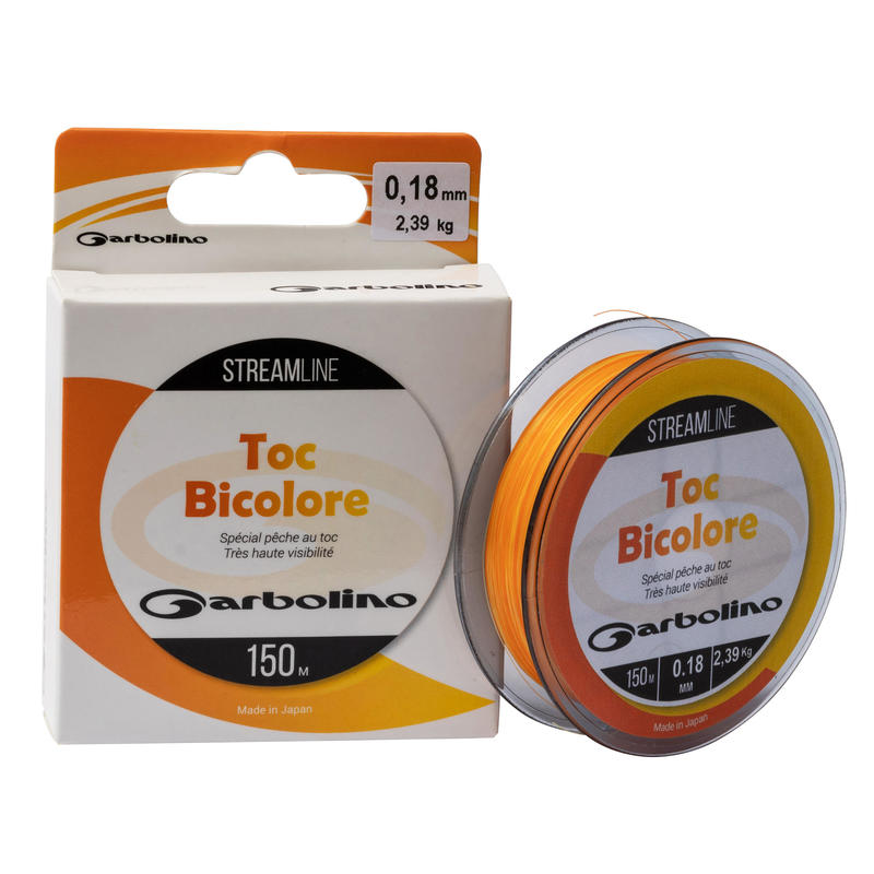 Toc Trout Fishing Nylon Line Two-Tone Orange/Yellow