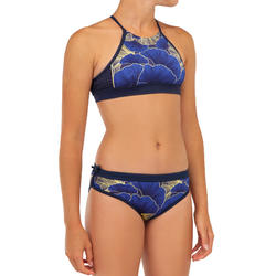 Bikinitop voor surfen meisjes Baha 900 high neck blauw
