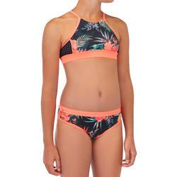 Bikinitop voor surfen meisjes Baha 900 high neck zwart