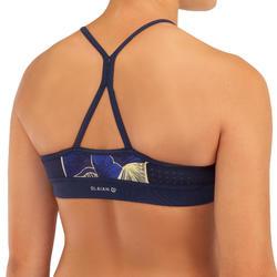 High neck top voor surfbikini meisjes Baha 900 blauw