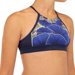 Bikini-Oberteil Bustier Surfen Baha 900 Shibu Mädchen blau