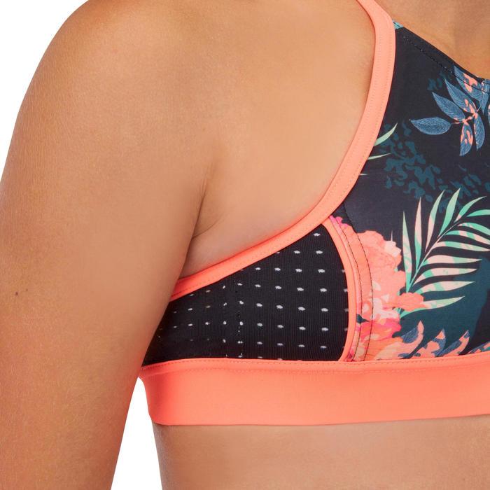 High neck top voor surfbikini meisjes Baha 900 zwart