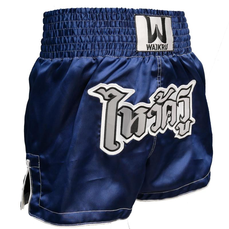 MUAY THAI SHORT MEN BLUE/SIL