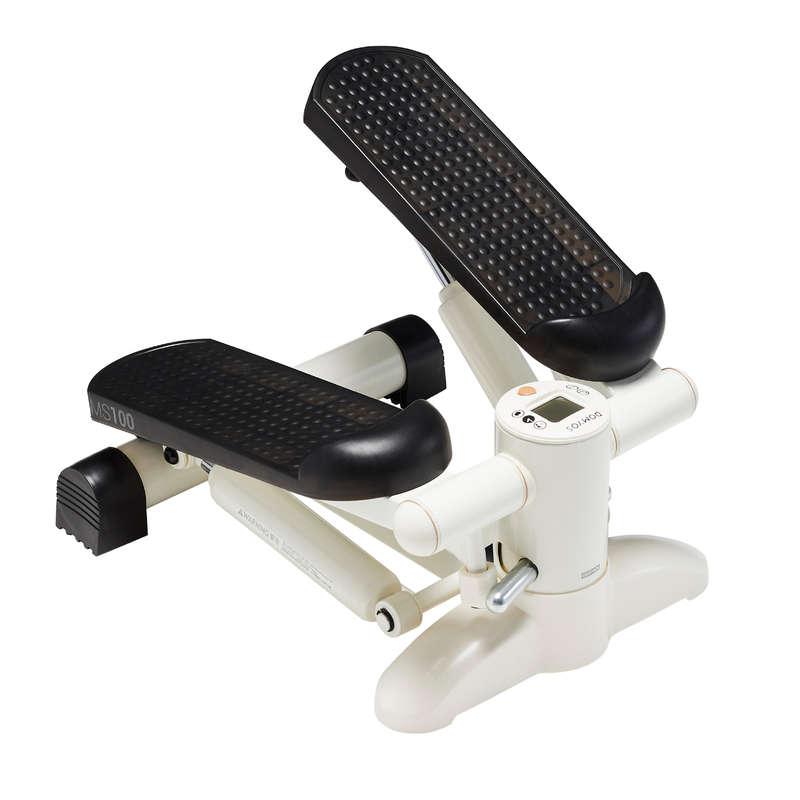 STEPPER, MINIBIKE Cardio Training - Stepper MS100 Marfim e preto DOMYOS - Pequeno Material Cardio Training