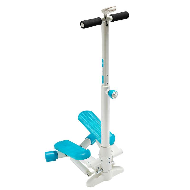 MINI-BICICLETĂ, STEPPER FITNESS CARDIO Fitness Cardio, Bodybuilding, Crosstraining, Pilates - Stepper MS120 alb/ albastru DOMYOS - Aparate fitness cardio