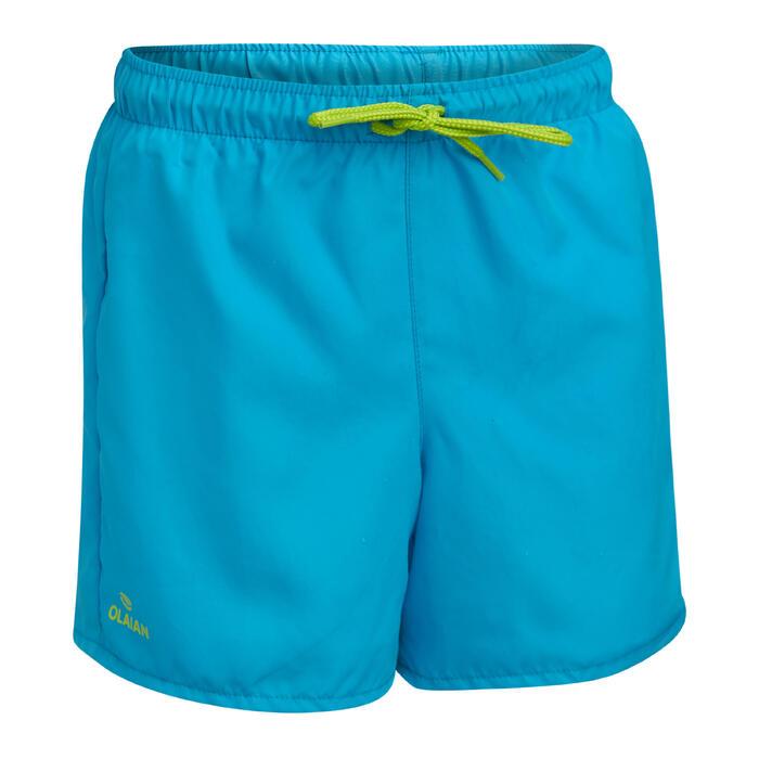兒童款衝浪褲50-淺碧藍色