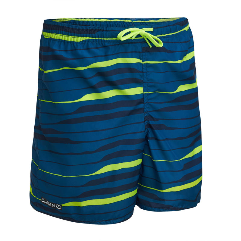 swimming shorts 100 - striped blue/green