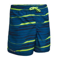 Zwembroek jongens 100 Line up petrolblauw