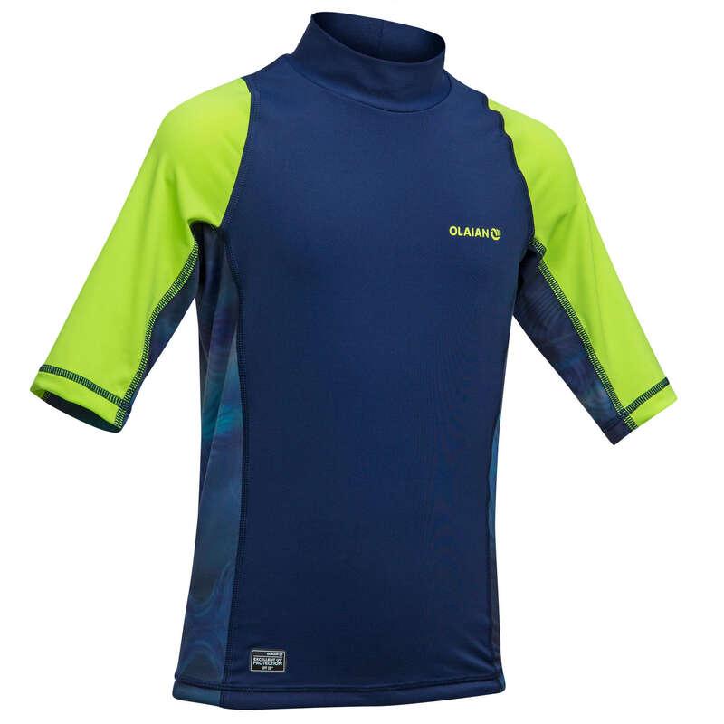 Gyerek UV szűrős ruházat Strand, szörf, sárkány - Fiú felső UV-védelemmel 500-as OLAIAN - Bikini, boardshort, papucs