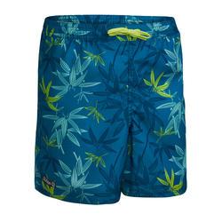 Boardshort voor tweens 100 bamboe turquoise