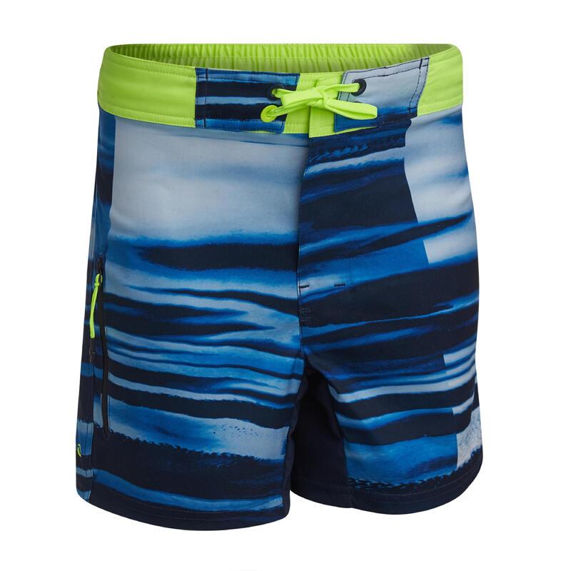 swimming shorts 500 - blue/yellow