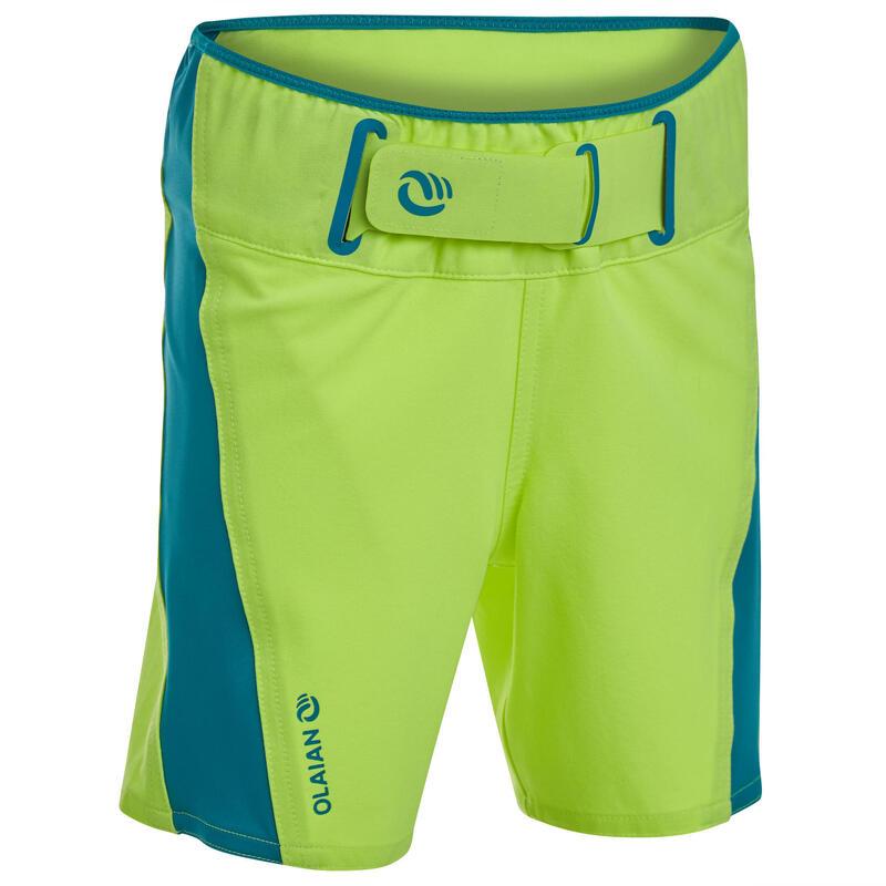Kids' swim shorts 500 - neon yellow