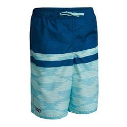 Maillot de bain Boardshort garcon 100L TWEEN SHAD BLUE