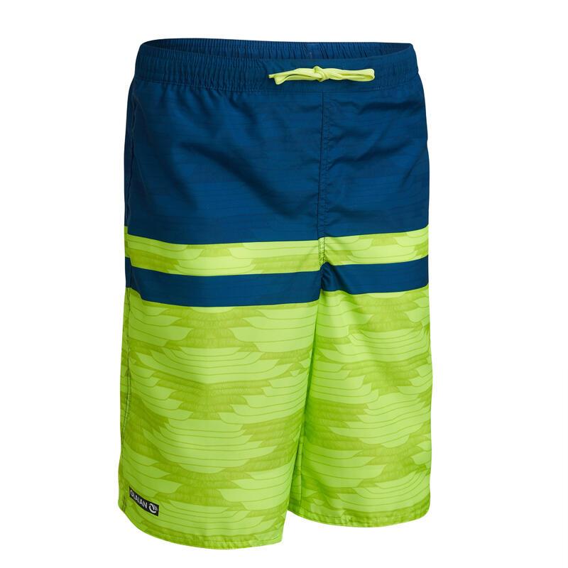 long swim shorts - green