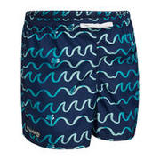 Kids' swim shorts 100 ORIGAMI - Blue
