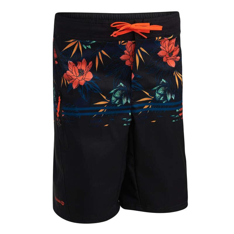 BOY'S BOARDSHORTS Swimwear and Beachwear - TWEEN BS 500L - LOTUS BLACK OLAIAN - Swimwear and Beachwear