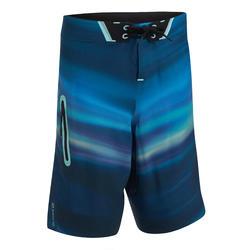 Boardshort voor tweens 900L Ocean blauw