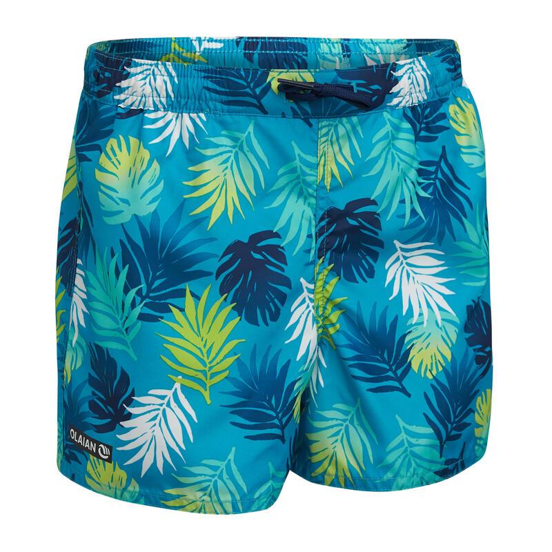 Kids' swim shorts 100 - Green