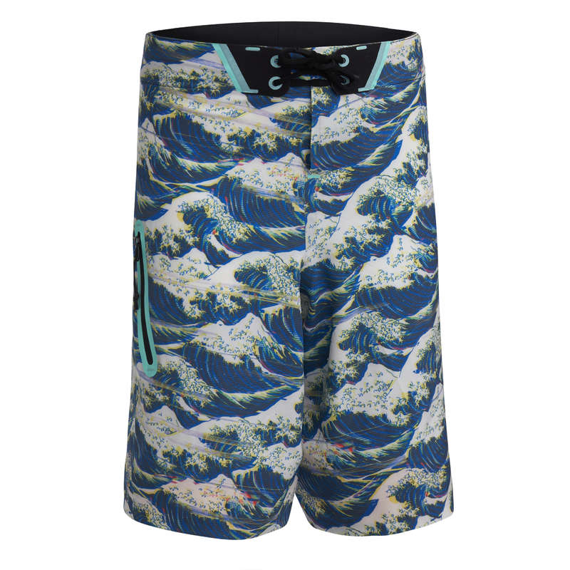 BOY'S BOARDSHORTS Swimwear and Beachwear - BS 900L TWEEN HOKUSAI BLUE OLAIAN - Swimwear and Beachwear