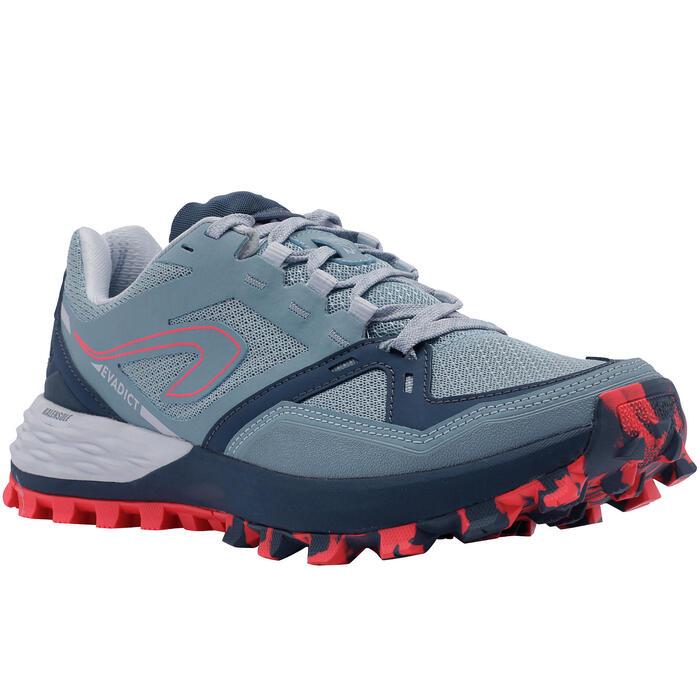 Chaussure de trail running femme MT2 bleu clair rose