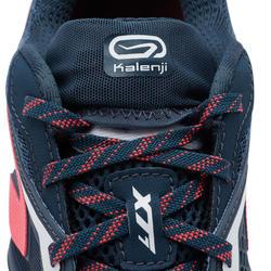 Chaussure de trail running pour femme XT7 bleue foncé et rose