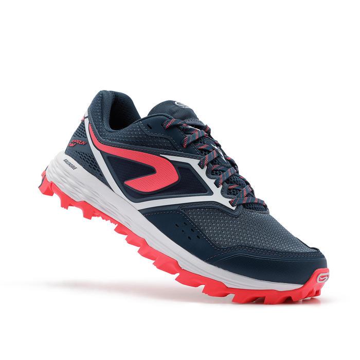Trailschoenen voor dames XT7 donkerblauw/roze