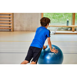 Ademend en technisch T-shirt voor gym jongens S900 blauw