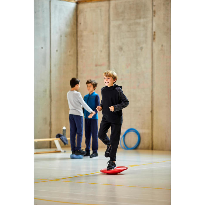 Warme joggingbroek voor gym jongens 100 slim fit joggingstof marineblauw