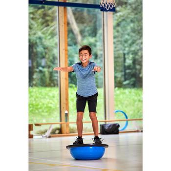 男童透氣合成材質短袖健身T恤S500 - 淺藍色