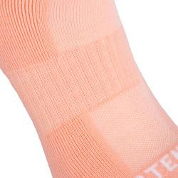 3雙入兒童款低筒網球運動襪RS 500-粉色/白色/綠色