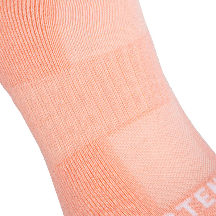 Low Tennis Socks RS 500 Tri-Pack - Pink/White/Green