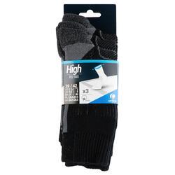 High-Cut Tennis Socks RS 900 Tri-Pack - Black/Grey