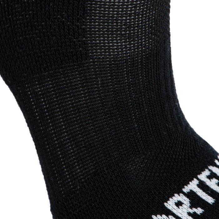 Halfhoge tennissokken voor kinderen RS 500 zwart zwart grijs 3 paar