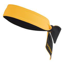 網球頭巾-黑黃配色