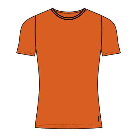 Men's Slim-Fit T-Shirt 500 - Orange